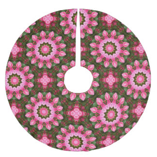 Rose Flower Nature, Mandala for Christmas 02.3 Brushed Polyester Tree Skirt