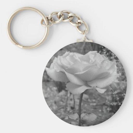 Rose Flower of Love B/W Key Chains
