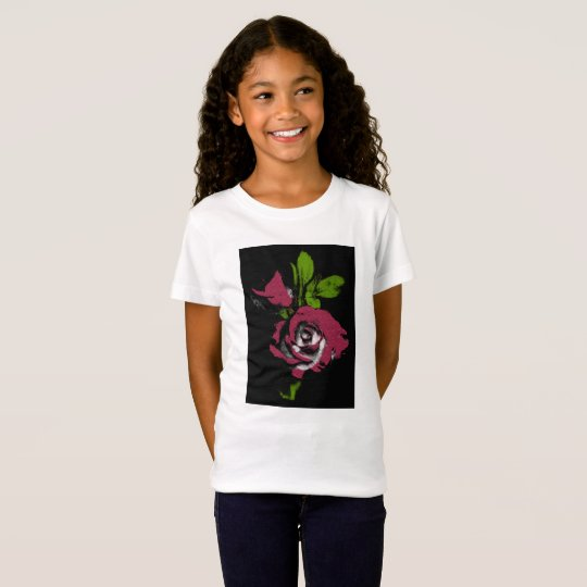 rose flower print on kids t' shirt. T-Shirt