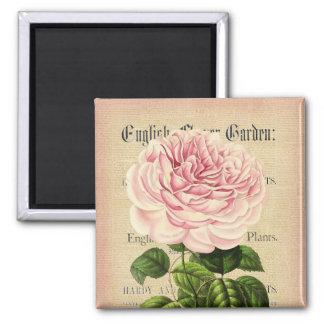 Rose flower vintage feminine floral magnet
