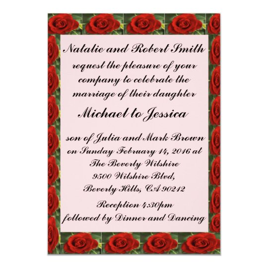 Rose Flower Wedding/Sweet Sixteen Invitation