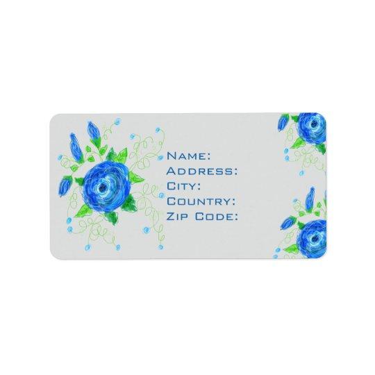Rose Flowered Custom Address Label