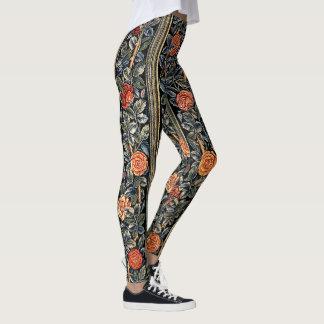 Rose Flowers Art Nouveau All Over Print Legging