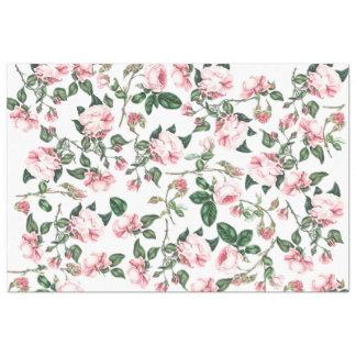 Rose Flowers Rosebuds Floral Tissue Paper