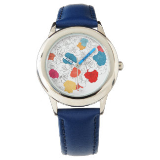 Rose flowers wristwatch