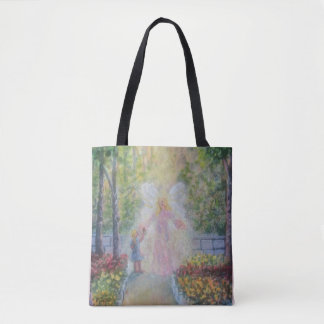 Rose for the Angel Tote Bag