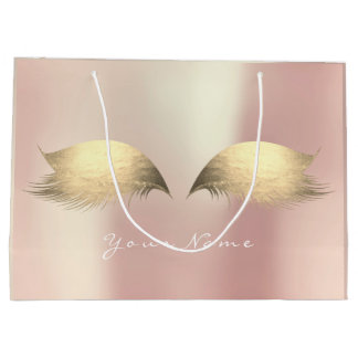 Rose Foxier Gold Blush Pearly Lashes Eye Makeup Large Gift Bag