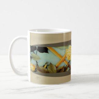 Rose Framed Basic White Mug