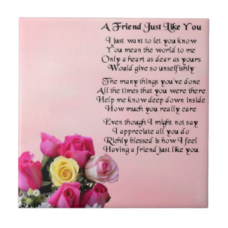 Rose - Friend Poem Tile