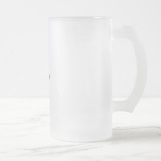 Rose Frosted Glass Beer Mug