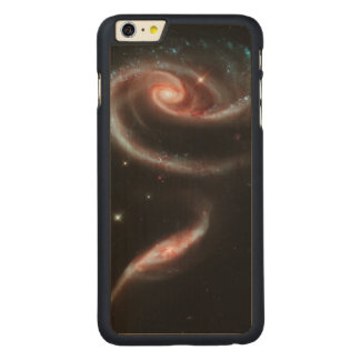 Rose Galaxy Carved Maple iPhone 6 Plus Case