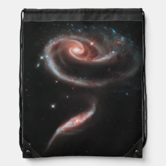 Rose Galaxy Drawstring Bag
