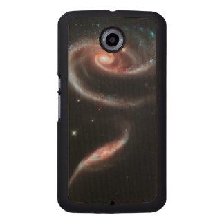 Rose Galaxy Wood Phone Case