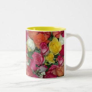 rose galore Two-Tone coffee mug