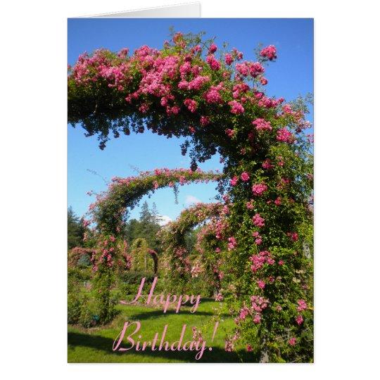 Rose Garden Birthday card