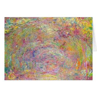 Rose Garden by Monet Card