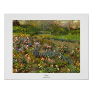 Rose Garden by Renoir beautiful impressionist art Poster
