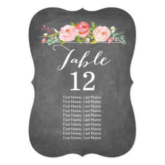 Rose Garden Chalkboard Individual Table Cards