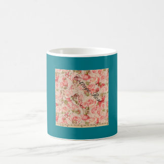 Rose Garden Coffee or tea mug very old pattern