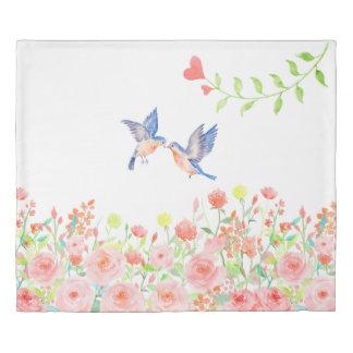 rose garden duvet comforter cover reversible