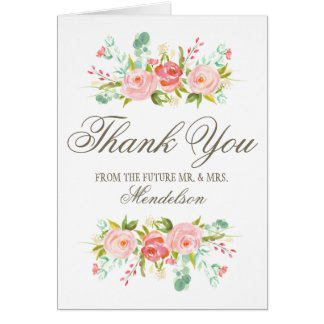Rose Garden   Engagement Party Thank You Card