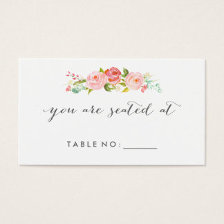 Rose Garden Floral Place Cards Double-Sided