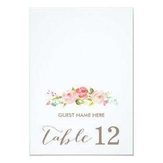 "Rose Garden Floral Wedding Escort Card 3.5"" X 5"" Invitation Card"