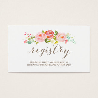 Wedding Registry Business Cards and Business Card Templates
