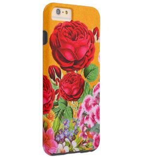 Rose Garden Orange Background Tough iPhone 6 Plus Case