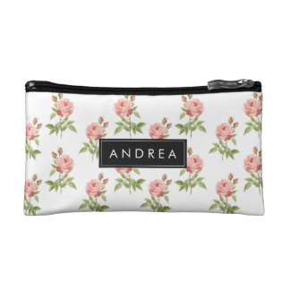 Rose Garden Personalized Cosmetic Bag