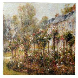 Rose Garden Wargemont by Renoir Tile