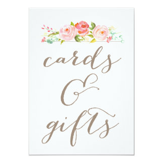 """Rose Garden Wedding Cards & Gifts Sign 5"""" X 7"""" Invitation Card"""