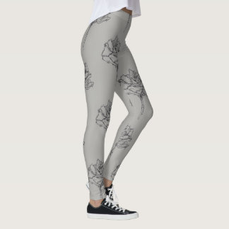Rose Gesture Designer Leggings (Grey Edition)