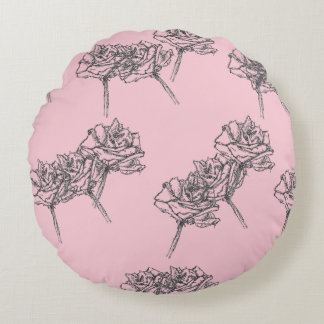 Rose Gesture Round Pillow (Pink Edition)