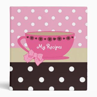 Rose Girly de recettes de tasse de thé et pois de