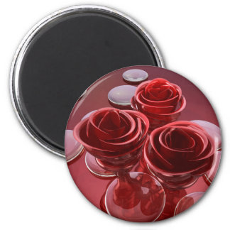 Rose glass magnet