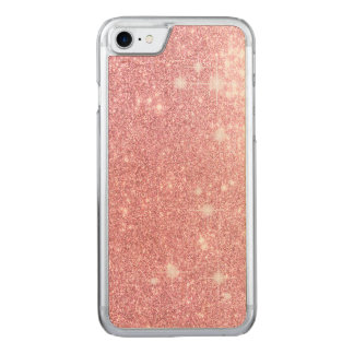 Rose Glitter Shine Look Carved iPhone 7 Case