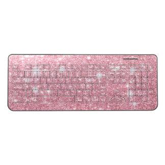 Rose Glitter Shine Look Wireless Keyboard