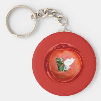 Rose Globe Keychains