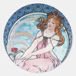 Rose Goddess Classic Round Sticker