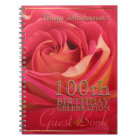 Rose gold 100th Birthday Celebration Guest Book