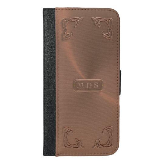 Rose Gold 3D Art Nouveau Fancy Corners iPhone iPhone 6/6s Plus Wallet Case