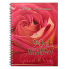 Rose Gold 90th Birthday Celebration Guest Book