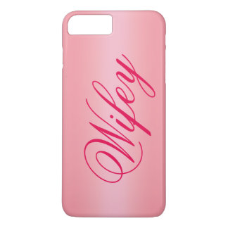 Rose Gold Adorable Wifey iPhone 7 Case