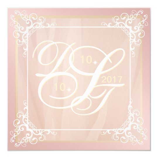 Rose Gold and Blush Invitations