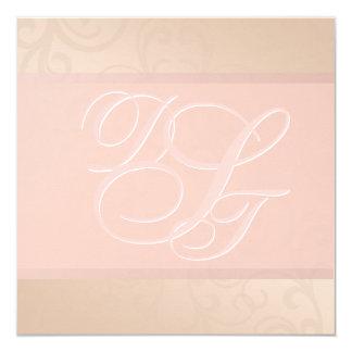 Rose Gold and Blush Monogram Invitation