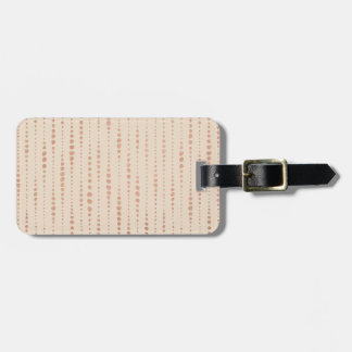 Rose Gold and Cream Dotted Lines Luggage Tag