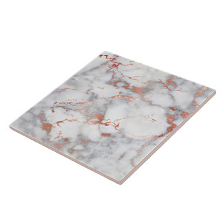 rose gold and grey marble tile