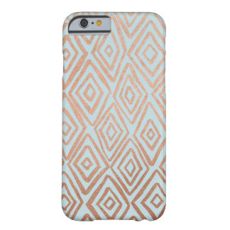 Rose Gold and Mint Diamonds iPhone 6/6s Case