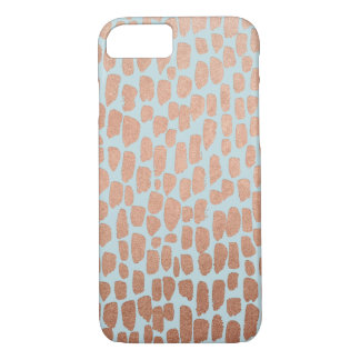 Rose Gold and Mint Spots iPhone 7 Case